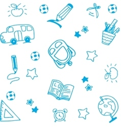 School equipment doodle art vector