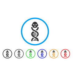 Baby genes rounded icon vector