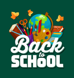 back to school chalkboard poster vector image