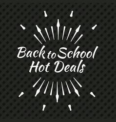 back to school typographic logo vector image vector image