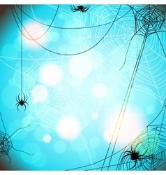 Background with spiders and web vector image vector image