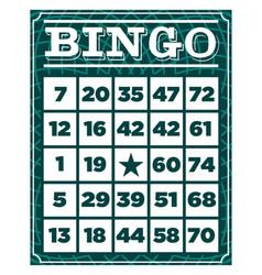 Bingo retro vintage card vector