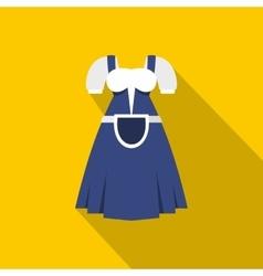 Blue Bavarian dress icon flat style vector image vector image