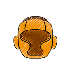 boxing mask equipment vector image vector image