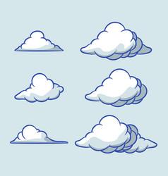 bubble cloud collection set vector image