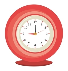 Colorful table clock graphic vector