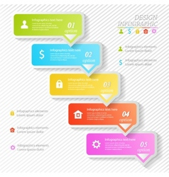 Design business infographics five successive vector image vector image