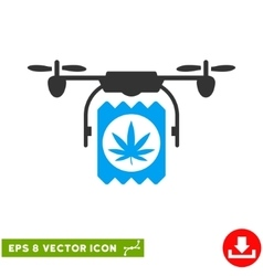 Drone Cannabis Delivery Eps Icon vector image