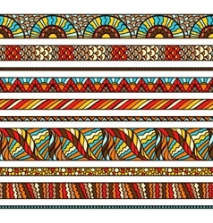 Ethnic background design with hand drawn ornament vector image vector image