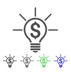 financial idea bulb flat icon vector image vector image