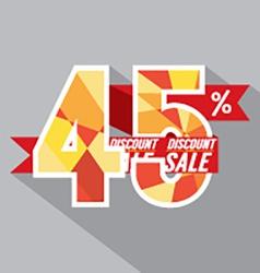 Flat design discount 45 percent off vector