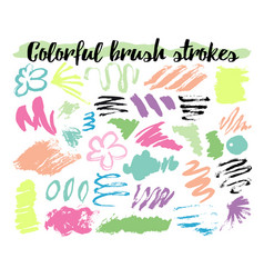 Floral brush strokes vector