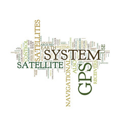 Gps systems text background word cloud concept vector