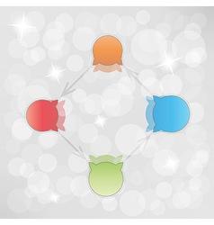Gradient circle arrows with bubbles vector
