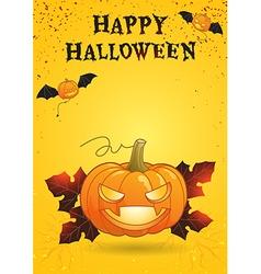 Happy Halloween poster bright color vector image