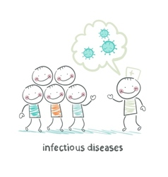 infectious diseases talks about the infection to vector image