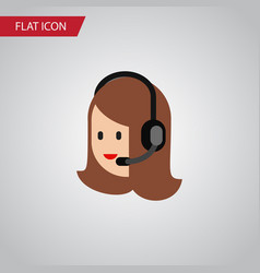 Isolated call center flat icon service vector