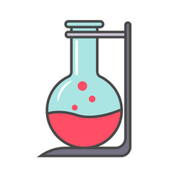 Laboratory beaker linear icon vector
