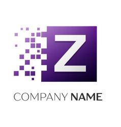 letter z logo symbol in the colorful square with vector image