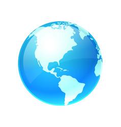 logo earth planet vector image vector image