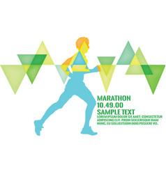 Marathon 2016 running marathon poster vector