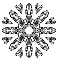 Ornate round pattern vector