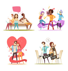 people listening music compositions vector image