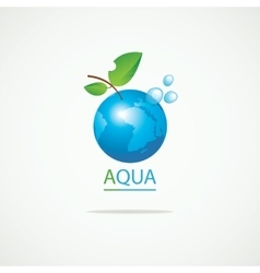 Planet Earth in the spray of clean water vector image vector image