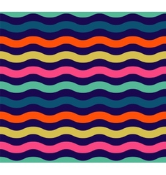 Seamless colorful wave pattern vector image vector image