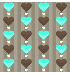 Seamless pattern with many hearts on a brown vector image