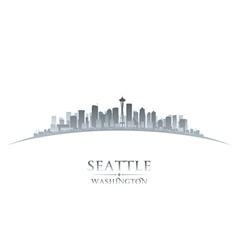 Seattle washington city skyline silhouette vector