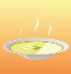 Soup plate vector