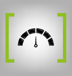 speedometer sign black vector image vector image