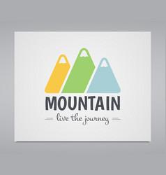 Summer mountain badge and outdoor logo emblem vector