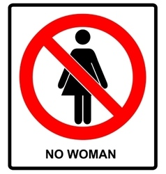 No woman sign isolated on white background vector