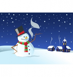 cold winter night vector image