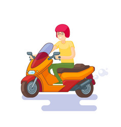 Colorful scooter flat concept vector