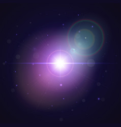 glowing star burst in space abstract explosion vector image