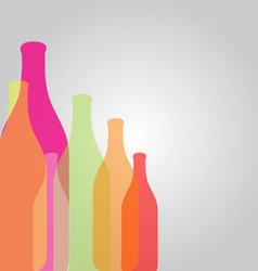 Background with colorful bottles vector image