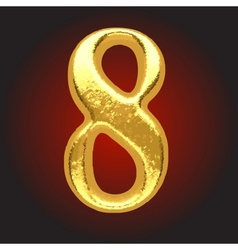 Golden letter on red vector