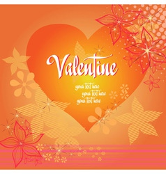 Valentine love heart background vector