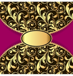 Background with a pattern of gold vector