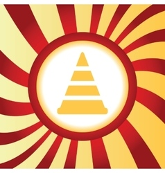 Traffic cone abstract icon vector