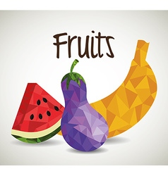 Fruits digital design vector