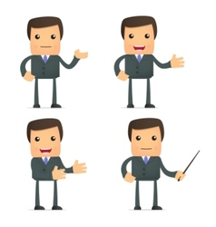 Funny cartoon businessman vector