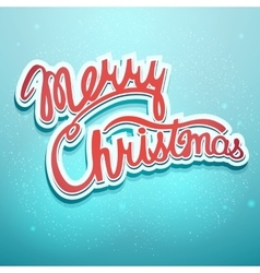 Christmas lettering on a blue background vector