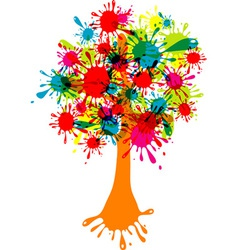 Blot abstract tree vector