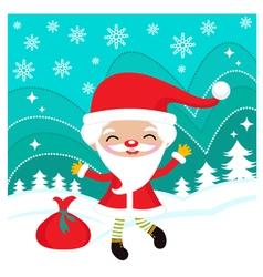 happy dancing santa vector image