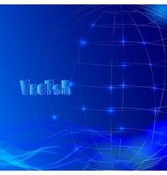 Abstract grid globe 01 vector