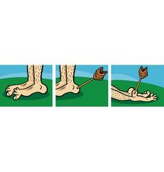 Achilles heel cartoon vector